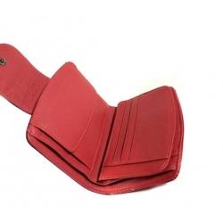 """Raudona odinė piniginė """"Lorenti-13"""""""